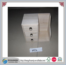 cheap and handmade unfinished children used wooden jewelry drawer box