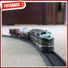 Kids Funny B/O Battery Operated 1:87 Plastic Classic Railway Electric Locomotive model kids electric ride on scale model train