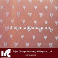 38g/M2 love shape jacquard mesh net fabric