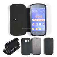 Luxury wallet book style leather PU case for Samsung Galaxy Ace Style G310 cover with stand