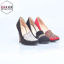 H911-C14 the rivet high heel round head shoes lady dress shoe