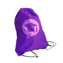 Polyester plastic 34*43cm strong drawstring backpack bag