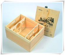 Custom Printed Logo 6 Bottles Sliding Lid Wooden Wine Boxes, Wood Case