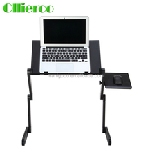 Aluminum alloy Foldable antiskid compact computer desk with wholesale price