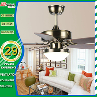 simply morden 42 inch 5 wood blades decorative ceiling fan with led light
