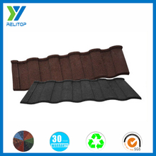 Sand coated types of roof tiles,color steel roof tile price