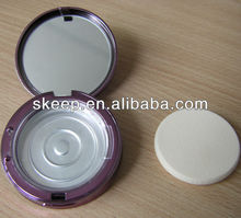2013 hot sales High quality shaped make up mirror with puff box with colourful finish