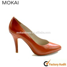 MK083-1 orange stiletto lady shoes modern summer dress shoes