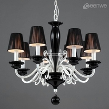 Modern hot black luxury chandeliers pendant lights for home/hotel