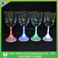 Bar Promotional Plastic Led Wine Glass, Light Up Wine Glass, Flashing Wine Glass
