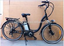 Pulgadas 26 la aprobación del ce de la ciudad de estilo de moto bici eléctrica/bicicletas