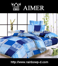 grid design printing polycotton bed sheet/trade assurance