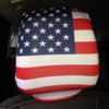 Hot Selling Spandex Fabric Football Fans Country Car Seat Head Rest Covers
