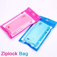 Plastic computer cable packaging bag with zipper top B-01