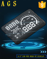 "2015 new 5.5"" car HUD S5 head up display for FAW XENIA show Rpm Speed Overspeed Warning Battery Voltage Water Temp OBD"