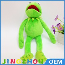 long leg sitting green big soft toy plush stuffed frog with long arms and legs