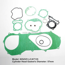 NOUVO LC AT135 motorcycle spare parts cylinder head gasket