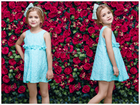 2 year old girl dress blue lace cute sexy dress for little honey