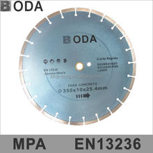 Specialist circular concrete cutting blade serrated cutting blade