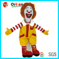 High quality promotional McDonald's character doll toy