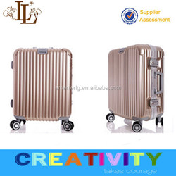 Top Quality Aluminum Frame PC Luggage With Bottle Holderge in 20, 24, 28