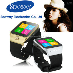 Cheap MTK6260 Quad Band unlocked smart watch mobile phone with sim card camera