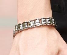 Punk Stainless Steel Bracelet Bicycle Motorcycle Chain link Men's Bracelets Mens Bracelets & Bangles 2015 Fashion Jewelry