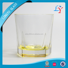 drinking glassware coloured pentagon Five-Pointed whisky glass unique shaped drinking glass for whiskey