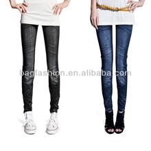 Jean Chic Stretch Leggings Pants Black/ Blue 2013