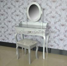 Top Sale Quality Antique Wooden White Makeup Table Durable Dresser