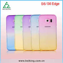 Hot sale Gradual change TPU soft case for Samsung Galaxy S6, for S6 TPU case