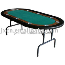 "48"" outdoor folding camping poker table with cup holder and foldable metal legs"