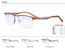 de metal la mitad del borde del templo de niza diseño de gafas de marco óptico de la fabricación