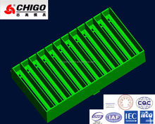 ABS/PP White Plastic Injection Mold for Air-Conditioner Guiding Wind Bar