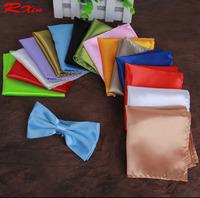 Retail Wholesale Mens Silky Towel Handkerchiefs Fashion Pocket Square Tower Hanky Snot-rag Hankies Solid Color men