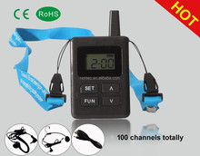 Professional Factory Sale 200 Meters 2.4G wireless tour guide system bus guided government education church museum