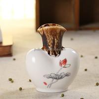 Attractive mini white ceramic glazed teapot flower pot