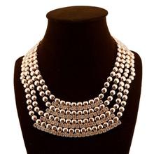 luxury brand jewelry layered rhinestone gold necklace women jewelery
