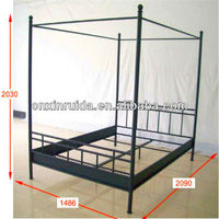 Modern bedroom furniture double metal bed frame designs