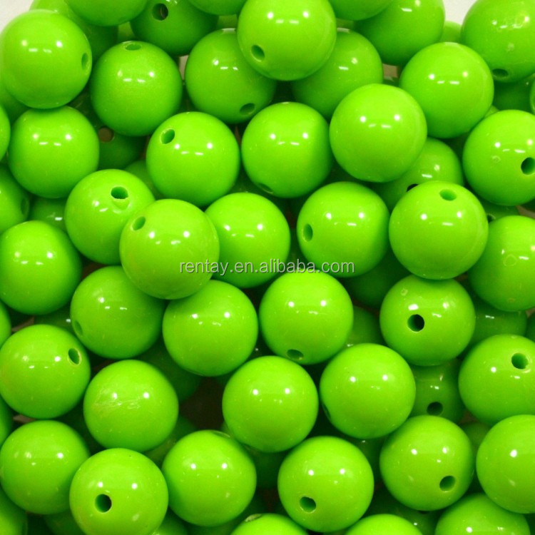 16mm Lime Bubblegum Beads 20pc. Chunky gumball beads lot_conew1.jpg