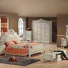 European style solid wood carved bedroom furniture,antique solid wood bedroom furniture, white bedroom furniture