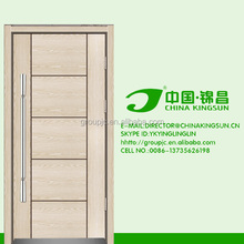 White painting panelled plain design factory manufacturing solid wood door and window for hotel