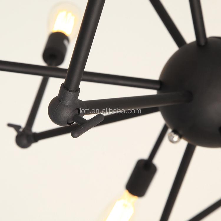 Industriel créative irrégulière déformable araignée plafond lampe ...