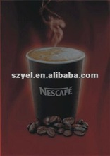 2012 Hot Selling EL Advertisement/EL Poster for Nestle Coffee Promotion