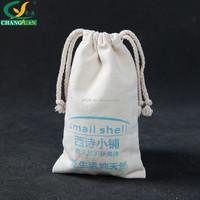 Cheap Plain Cotton Fabric Drawstring Bag Pouch