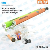 disposable wax e cigs/dry herb vaporizer pen with ceramic rod titanium wires coil