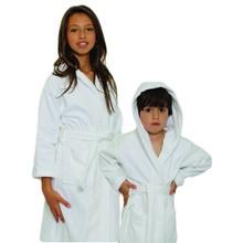 Kids Velour Hooded Bathrobe