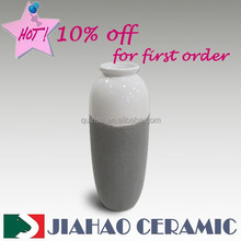 ceramic flower vase, latest home decoration with cement finishing