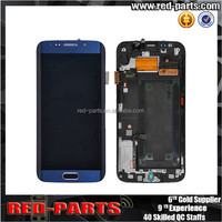 Mobile phone spare parts for Samsung Galaxy S6 SM-G925 LCD Screen digitizer assembly with front housing