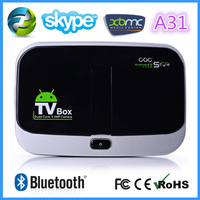 2014 made in china wholesale factory Wholesale CS918s Android Smart TV box Allwinner A31 Quad Core 2GB RAM 16GB ROM XBMC